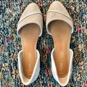 Tom's Jutti D'Orsay Flats - Grey/White - worn once